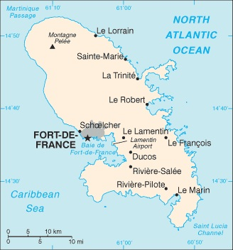 Martinique in 2006 (Perry-Castaneda Library Map Collection)