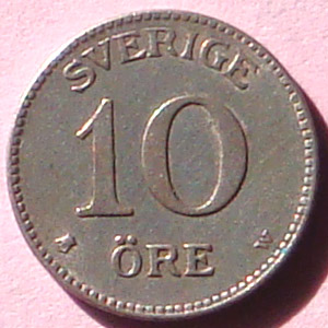 Sweden 1917 W 10 Ore Coinfactswiki