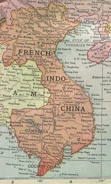 French Indo-China in 1913 (from Wikimedia commons)