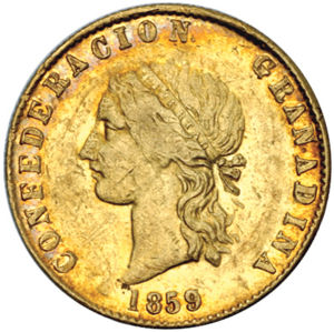 Colombia 1859 P 10 Pesos Coinfactswiki