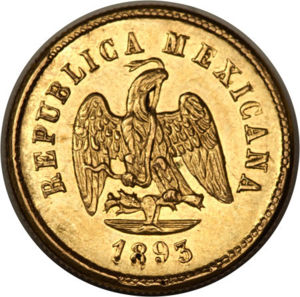 Mexico 1893 Cn M 2 1 2 Pesos Coinfactswiki