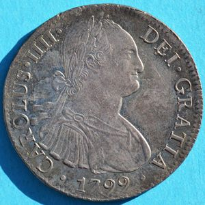 Mexico 1799-Mo FM 8 reales - CoinFactsWiki