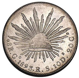Mexico 1893 Go Rs 8 Reales Coinfactswiki