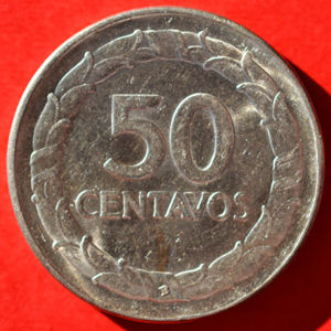 Colombia 1947 B 50 Centavos Coinfactswiki