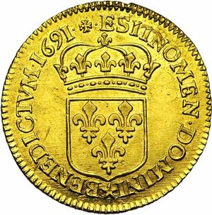 France 1691E louis dor rev JElsen 118-1124.jpg