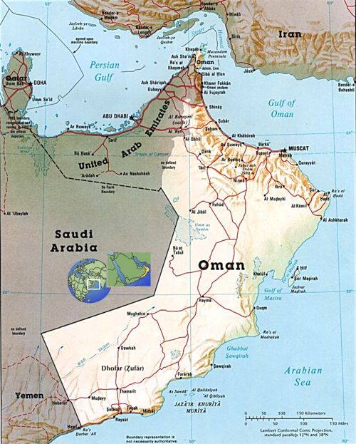 Oman, present day, from www.geographicguide.com