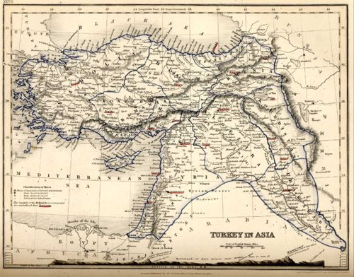 Turkey in Asia, from Milner's atlas of 1850
