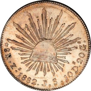 Mexico 1882 Zs Js 8 Reales Coinfactswiki