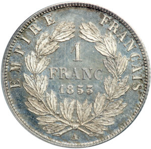 France 1853A franc rev Goldberg 69-4734.jpg
