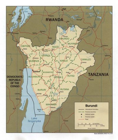 Burundi (Perry-Castaneda Library Map Collection)