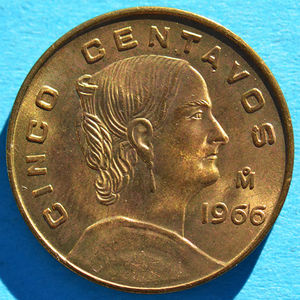 Mexico 1966 5 Centavos Coinfactswiki