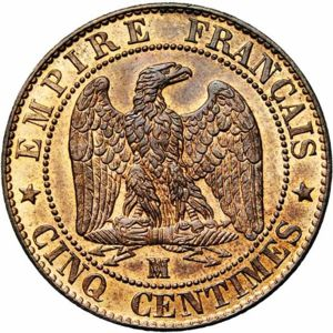 France 1856-BB 5 centimes - CoinFactsWiki