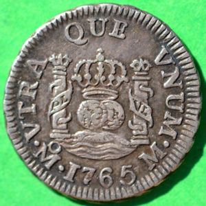 Mexico 1765 Mo M 1 2 Real Coinfactswiki