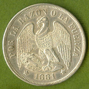 Chile 1881 So Peso Coinfactswiki