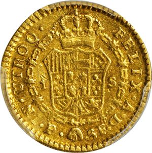 Colombia 1784-P SF 2 escudos - CoinFactsWiki