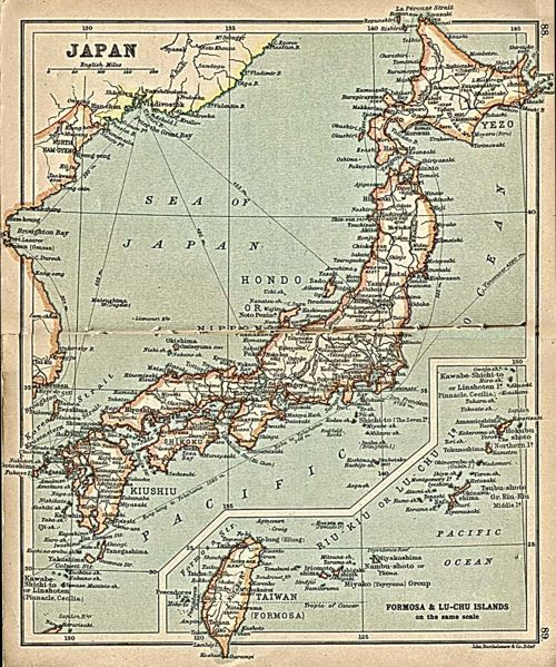 Japan in 1912 (from the Perry Castaneda Library Map Collection)