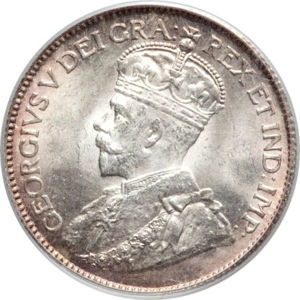 Canada 1913 25 Cents Coinfactswiki