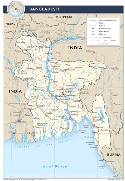 Bangladesh (Perry-Castaneda Library Map Collection)