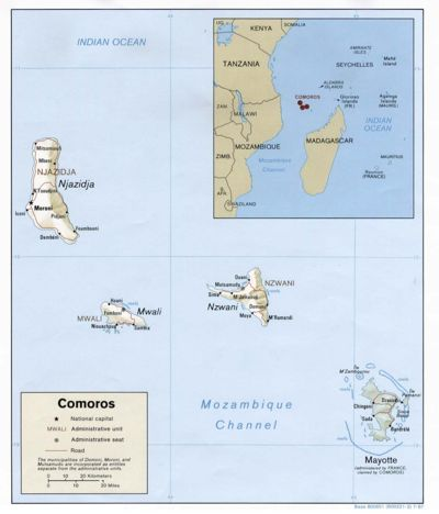 Comoros Islands (Perry-Castaneda Library Map Collection)