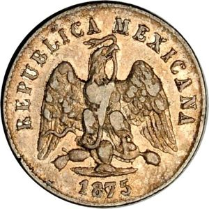 Mexico 1875-Go S 10 centavos - CoinFactsWiki