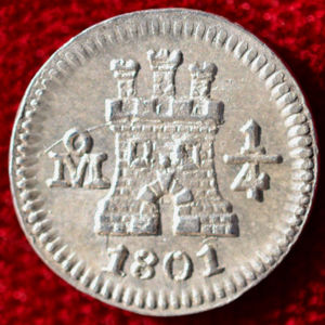 Mexico 1801 Mo 1 4 Real Coinfactswiki