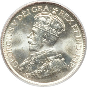 Canada 1917 25 Cents Coinfactswiki