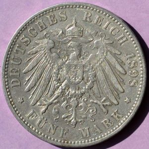 Saxony 1898E 5 mark rev JK.jpg