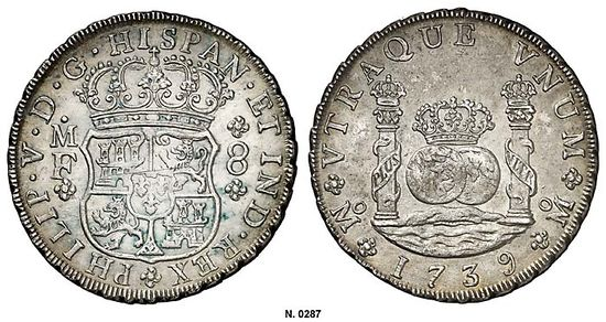 Mexico 1739-Mo MF 8 reales - CoinFactsWiki