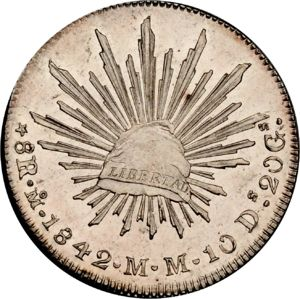 Mexico 1842 Mo Mm 8 Reales Coinfactswiki