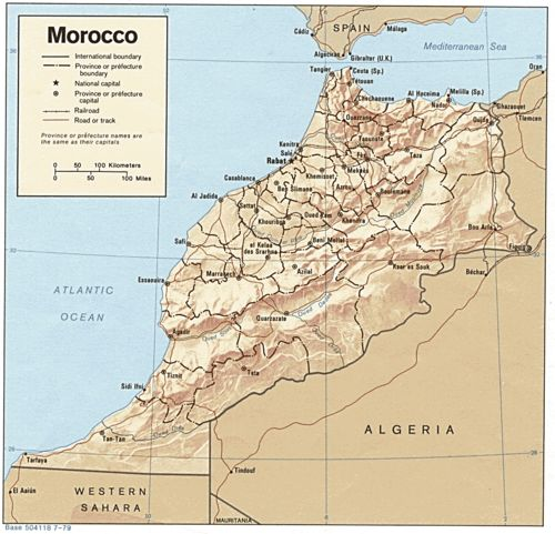 Modern day Morocco, excluding the region controlled within the Western Sahara
