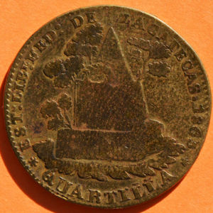 Zacatecas 1863 1 4 Real Coinfactswiki