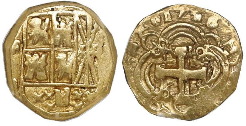 Colombia 1785-P SF 8 escudos - CoinFactsWiki